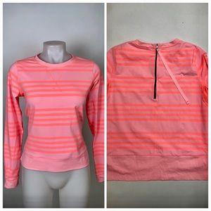 Lululemon LS Neon Striped Athletic Top